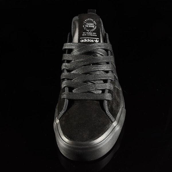 adidas Matchcourt Low RX Shoes Marc Johnson, Black, Black, Metallic Silver Rotate 6 O'Clock