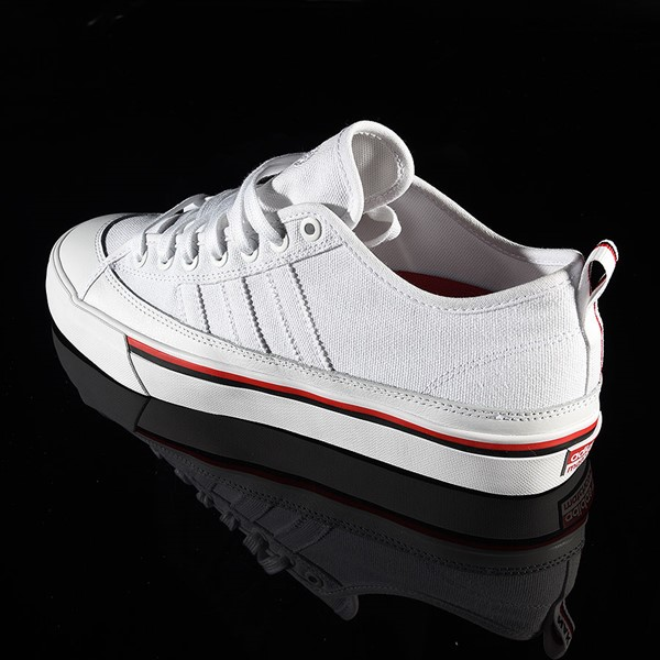 adidas Matchcourt Low RX3 Shoe Na-Kel Smith, White, Black, Scarlet Rotate 7:30