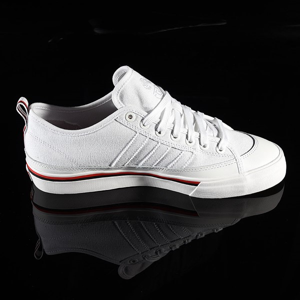 adidas Matchcourt Low RX3 Shoe Na-Kel Smith, White, Black, Scarlet Rotate 3 O'Clock