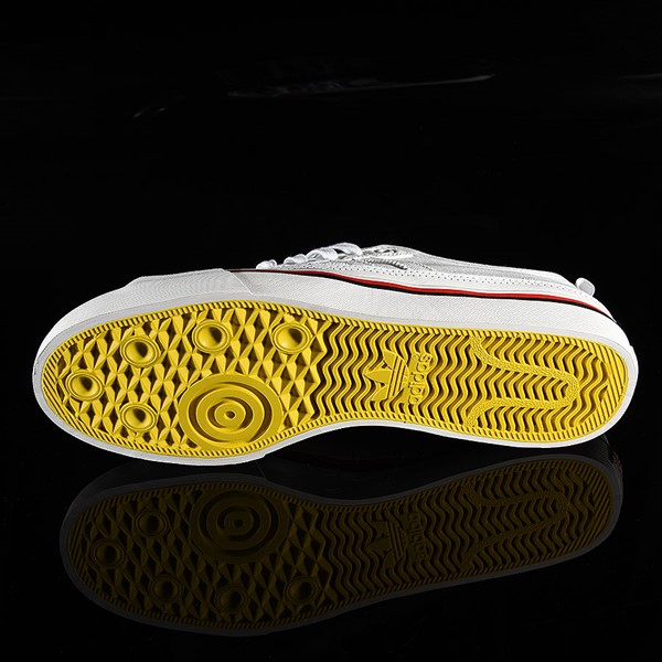 adidas Matchcourt Low RX3 Shoe Na-Kel Smith, White, Black, Scarlet Sole