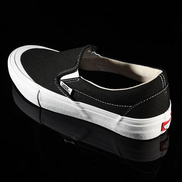 Vans Slip On Pro Shoes Black, White, Toe-Cap Rotate 7:30