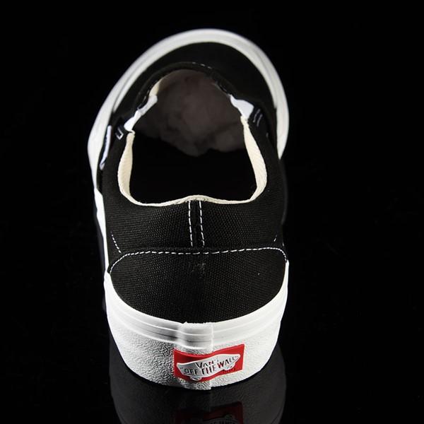 Vans Slip On Pro Shoes Black, White, Toe-Cap Rotate 12 O'Clock