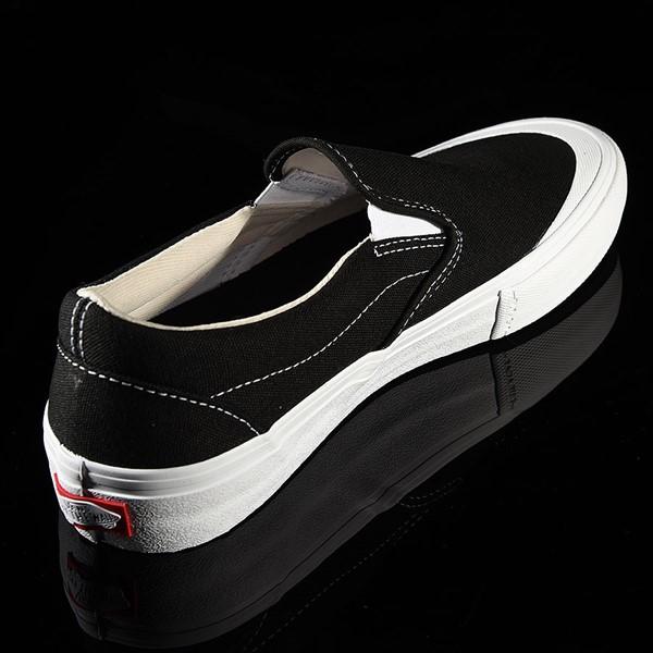 Vans Slip On Pro Shoes Black, White, Toe-Cap Rotate 1:30