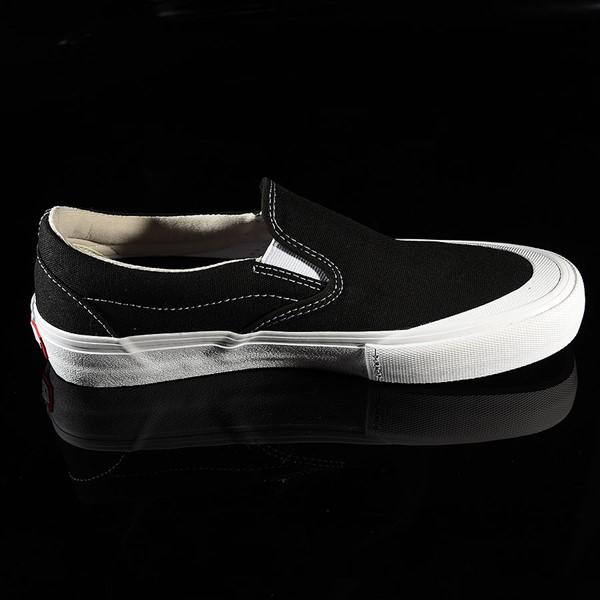 Vans Slip On Pro Shoes Black, White, Toe-Cap Rotate 3 O'Clock