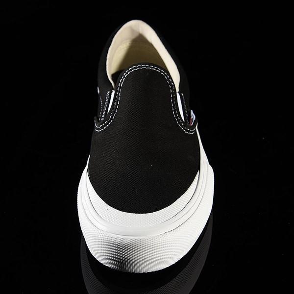 Vans Slip On Pro Shoes Black, White, Toe-Cap Rotate 6 O'Clock
