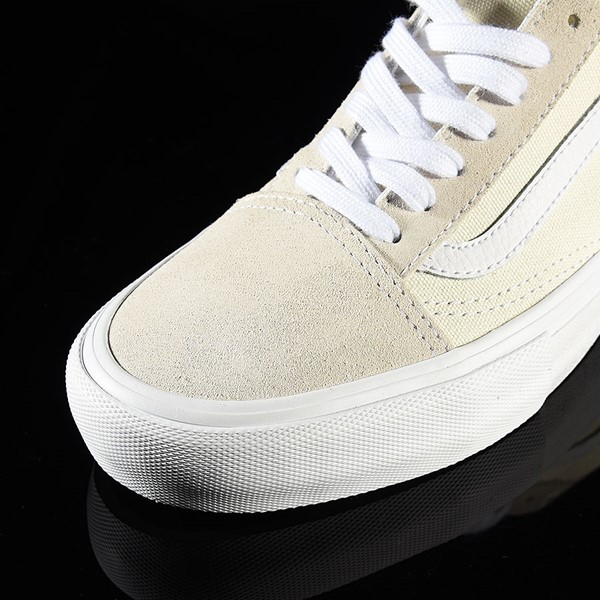 Vans Old Skool Pro Shoes White Closeup