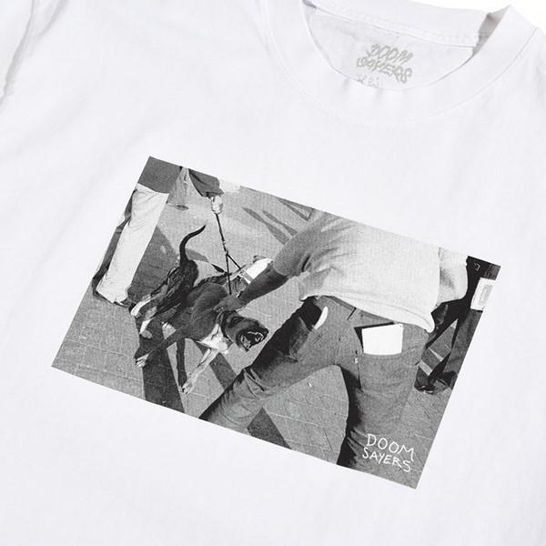 Doom Sayers Pitbull T Shirt White Detail.