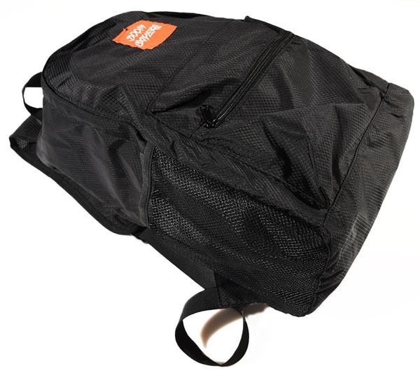 Doom Sayers Packable Travel Bag Black, Orange Side.