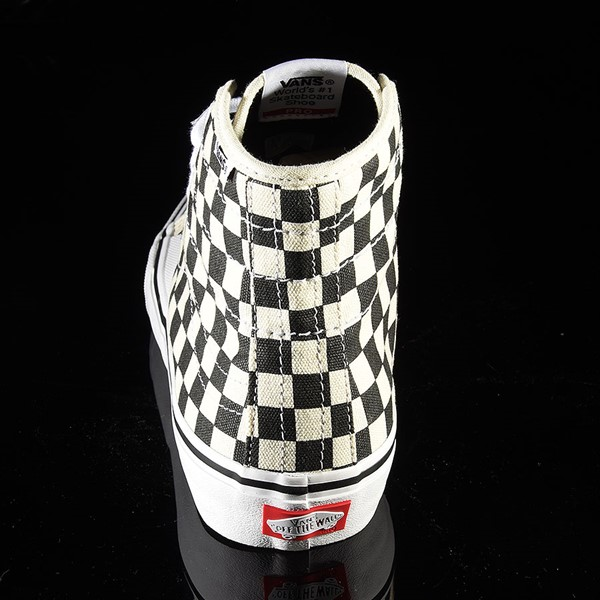 Vans AV Classic High Shoes Black, White Checkerboard Rotate 12 O'Clock