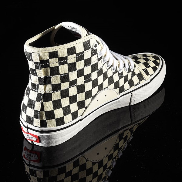 Vans AV Classic High Shoes Black, White Checkerboard Rotate 1:30