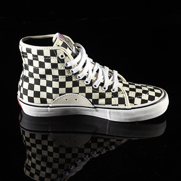 Vans AV Classic High Shoes Black, White Checkerboard Rotate 3 O'Clock