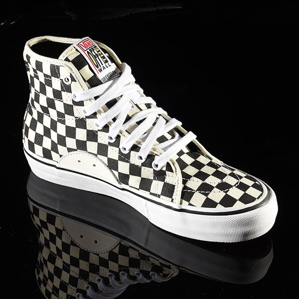 Vans AV Classic High Shoes Black, White Checkerboard Rotate 4:30