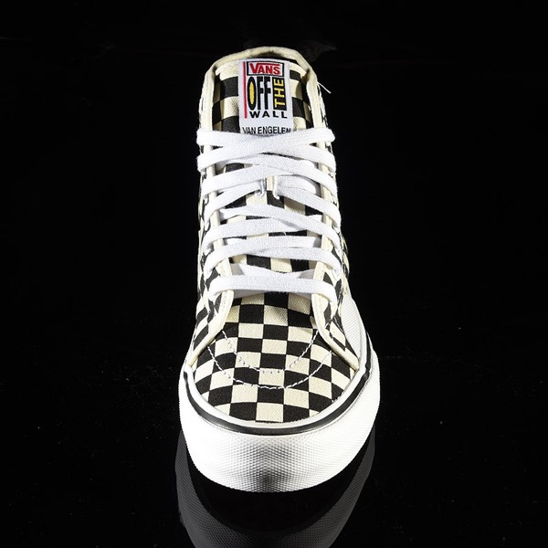 Vans AV Classic High Shoes Black, White Checkerboard Rotate 6 O'Clock