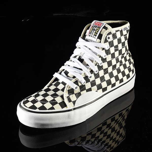 Vans AV Classic High Shoes Black, White Checkerboard Rotate 7:30