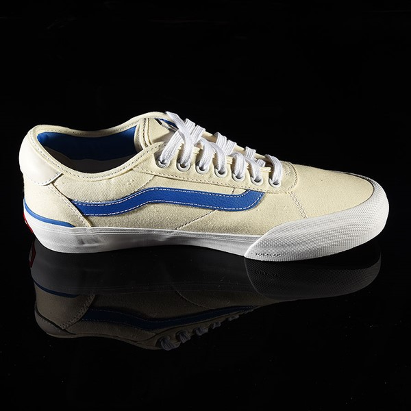 Vans Chima Pro 2 Shoe (Center Court) Classic White, Victoria Blue Rotate 3 O'Clock