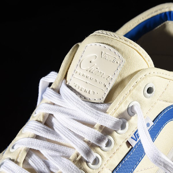 Vans Chima Pro 2 Shoe (Center Court) Classic White, Victoria Blue Tongue
