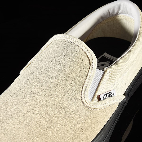 Vans Slip On Pro Shoes Classic White, Black Tongue