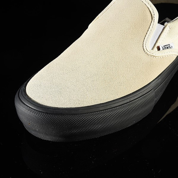 Vans Slip On Pro Shoes Classic White, Black Closeup