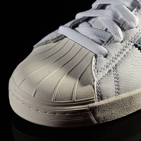 adidas Superstar Vulc ADV Shoe White, Chalk White, Krooked Closeup