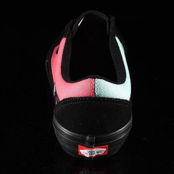 Vans Old Skool Pro Shoes (Asymmetry) Black, Blue, Rose Rotate 12 O'Clock