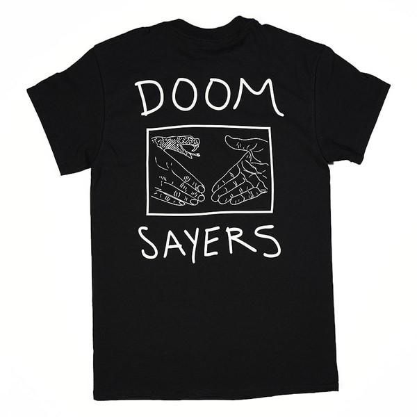 Doom Sayers Snake Shake T Shirt Black Back.