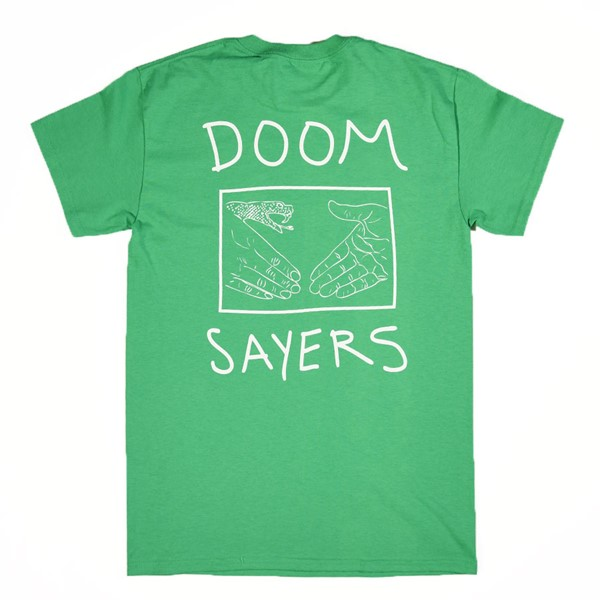 Doom Sayers Snake Shake T Shirt Kelly Green Back.