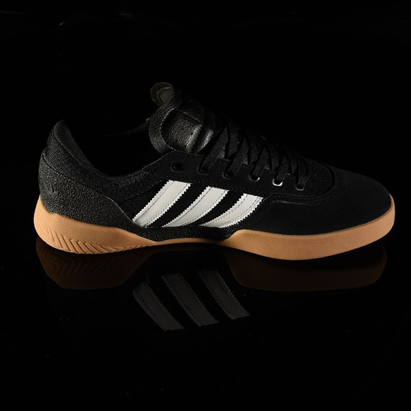 adidas City Cup Shoe Black, White, Gum Rotate 3 O'Clock