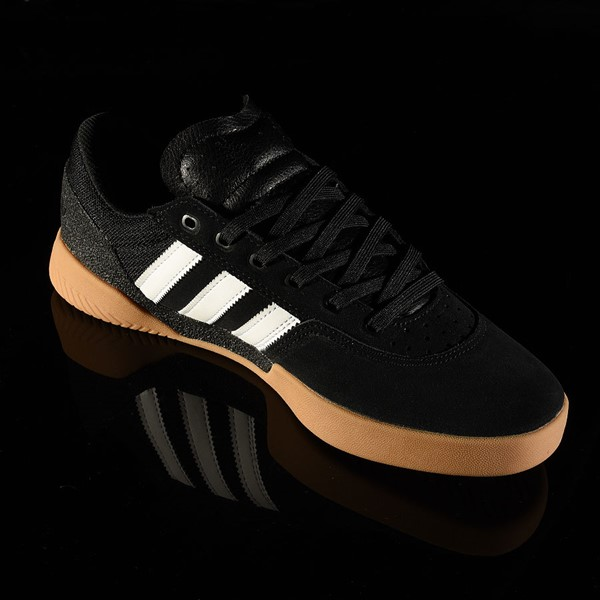 adidas City Cup Shoe Black, White, Gum Rotate 4:30