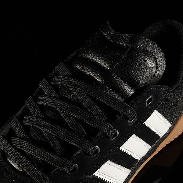 adidas City Cup Shoe Black, White, Gum Tongue