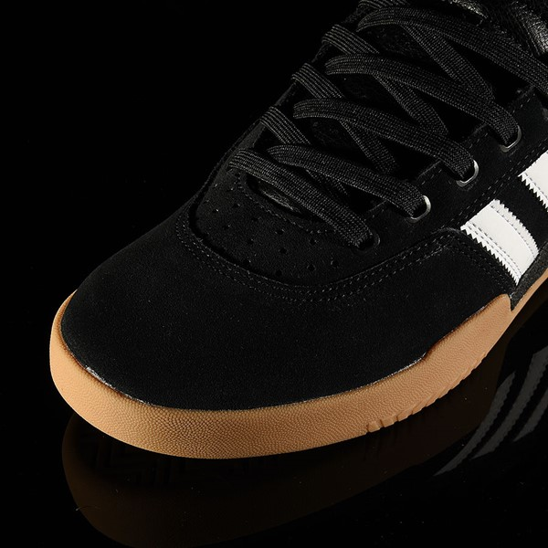 adidas City Cup Shoe Black, White, Gum Closeup