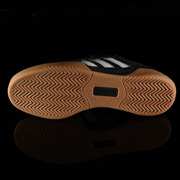 adidas City Cup Shoe Black, White, Gum Sole