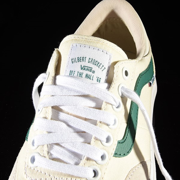 Vans Gilbert Crockett Pro Shoes (Center Court) Classic White, Evergreen Tongue