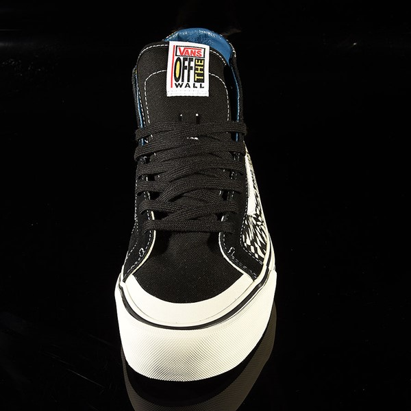 Vans Sk8 Hi 138 Decon Shoe TC Surf, Black, Classic White Rotate 6 O'Clock