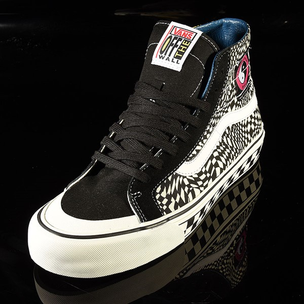 Vans Sk8 Hi 138 Decon Shoe TC Surf, Black, Classic White Rotate 7:30