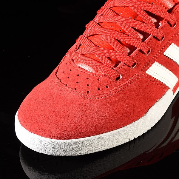 adidas City Cup Shoe Scarlet, White, White Closeup