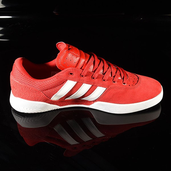 adidas City Cup Shoe Scarlet, White, White Rotate 3 O'Clock