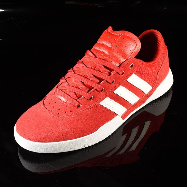adidas City Cup Shoe Scarlet, White, White Rotate 7:30