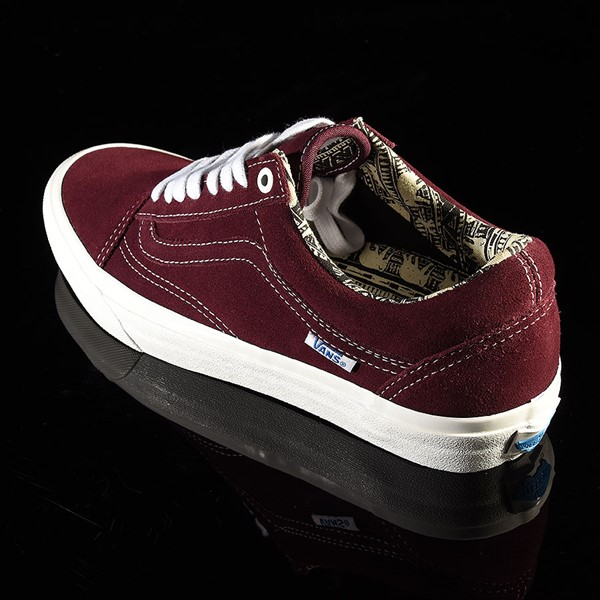 Vans Old Skool Pro Shoes Ray Barbee, Burgundy Rotate 7:30