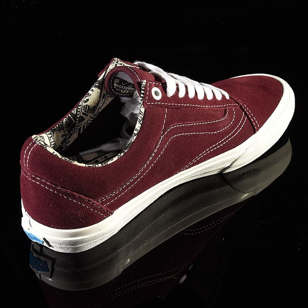 Vans Old Skool Pro Shoes Ray Barbee, Burgundy Rotate 1:30