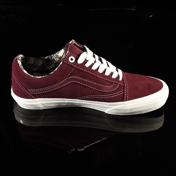 Vans Old Skool Pro Shoes Ray Barbee, Burgundy Rotate 3 O'Clock