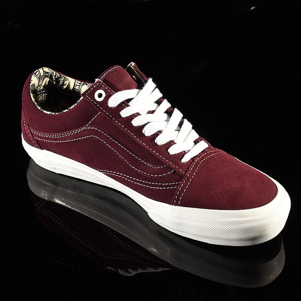 Vans Old Skool Pro Shoes Ray Barbee, Burgundy Rotate 4:30