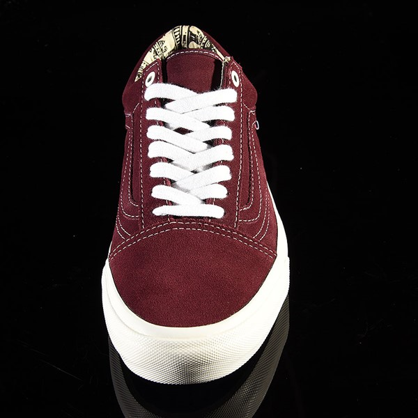 Vans Old Skool Pro Shoes Ray Barbee, Burgundy Rotate 6 O'Clock