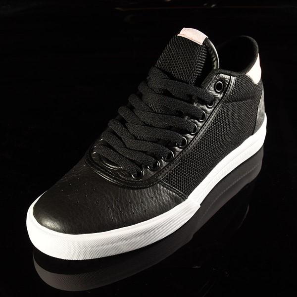 adidas Lucas Premiere Mid Shoe Black, White, Haze Coral Closeup