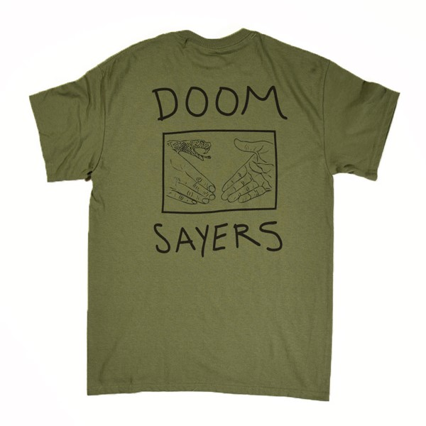 Doom Sayers Snake Shake T Shirt Military Back.