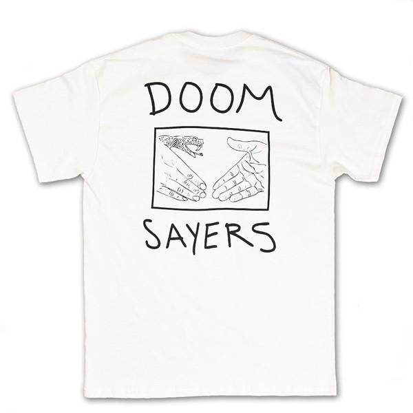 Doom Sayers Snake Shake T Shirt White Back.