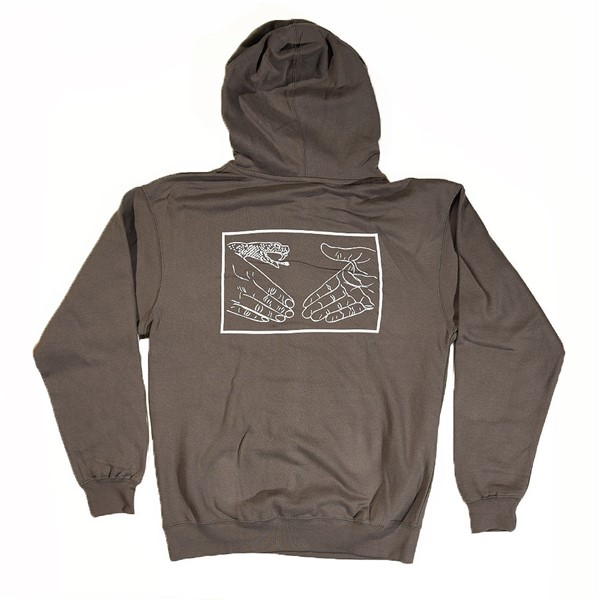 Doom Sayers Snake Shake Hoodie Charcoal Back.