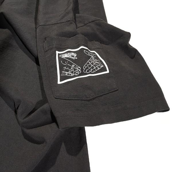 Doom Sayers Snake Shake Dean Pocket T Shirt Washed Black Sleeve