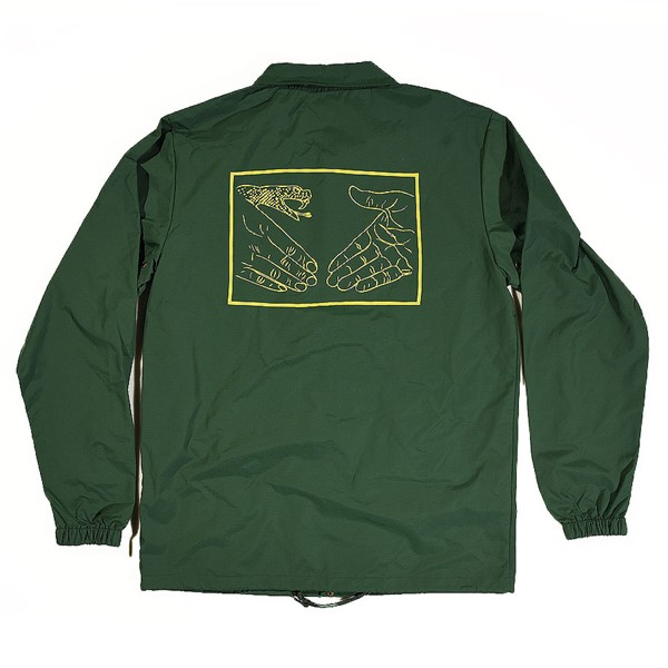 Doom Sayers Snake Shake 2 Coaches Jacket Forest Green Back.