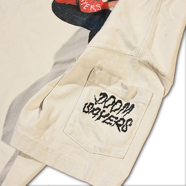 Doom Sayers Becky Dean Pocket T Shirt Cement Pocket.