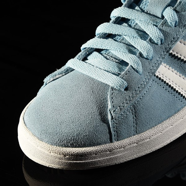 adidas Campus ADV Shoe Clear Blue, White Closeup